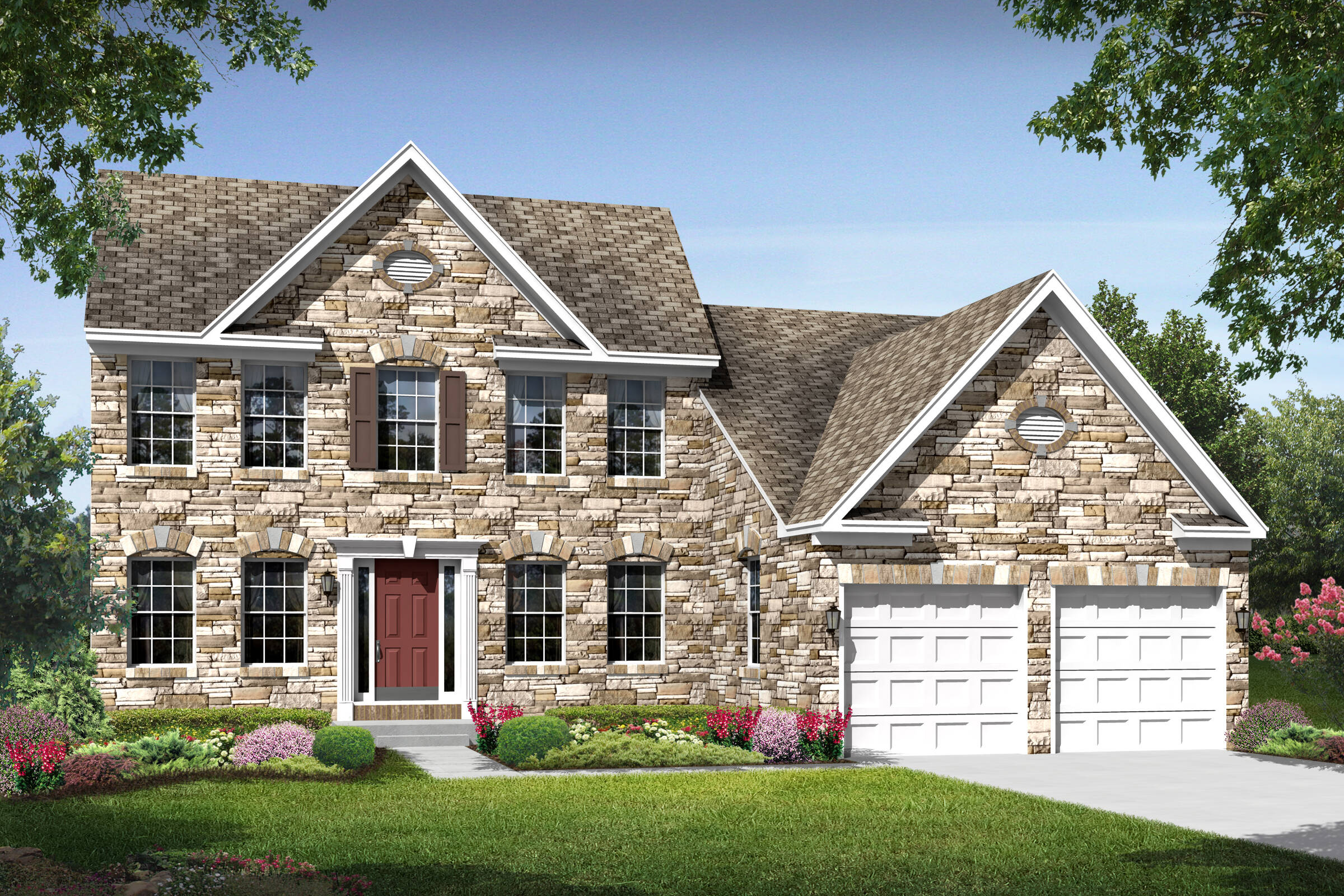 maine II traditional new homes at chestnut ridge in delaware