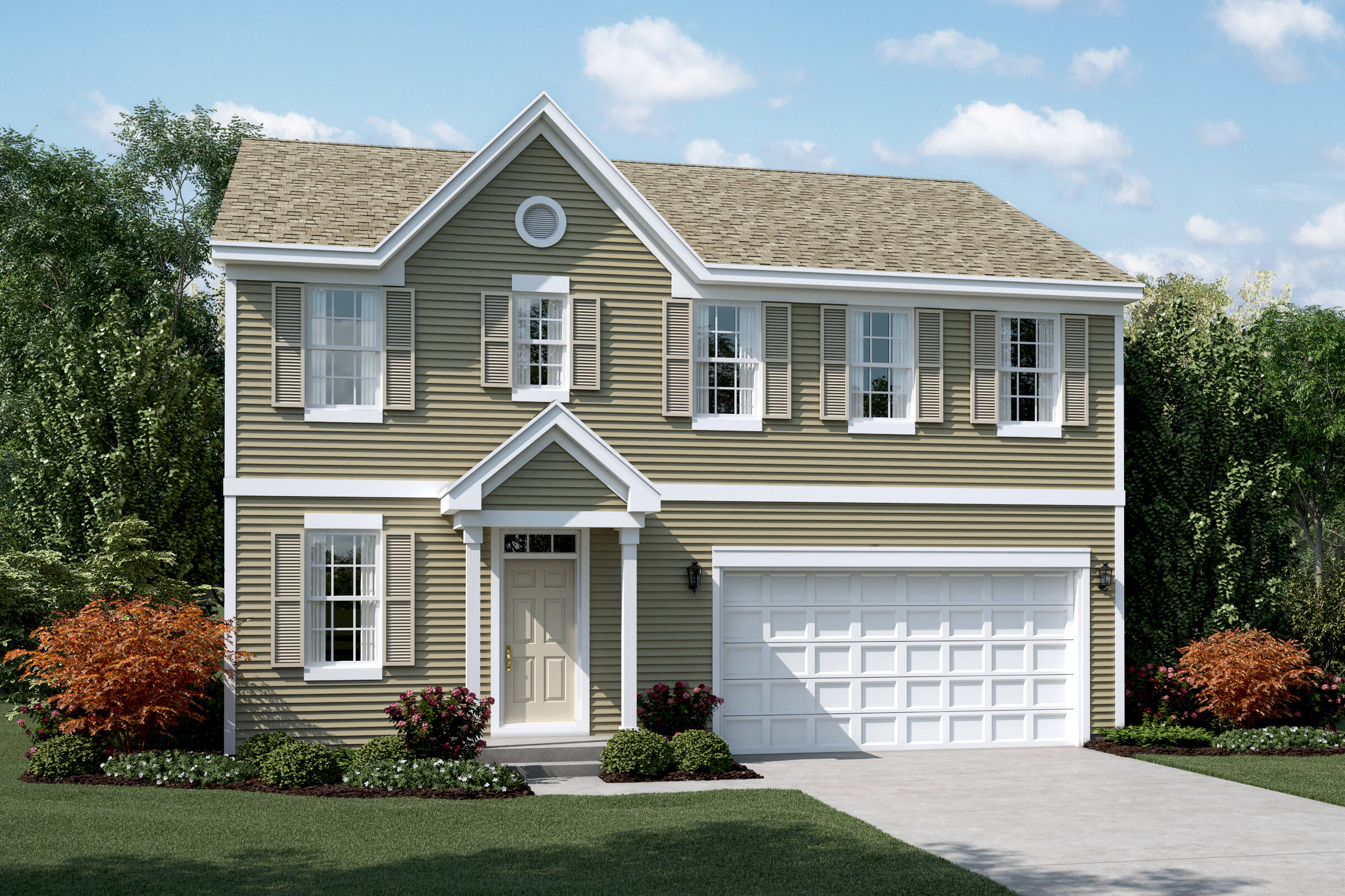 meadow a elevation new homes in south elgin