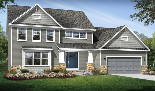 Build on your lot home designs carrington for Home builders in ohio on your lot