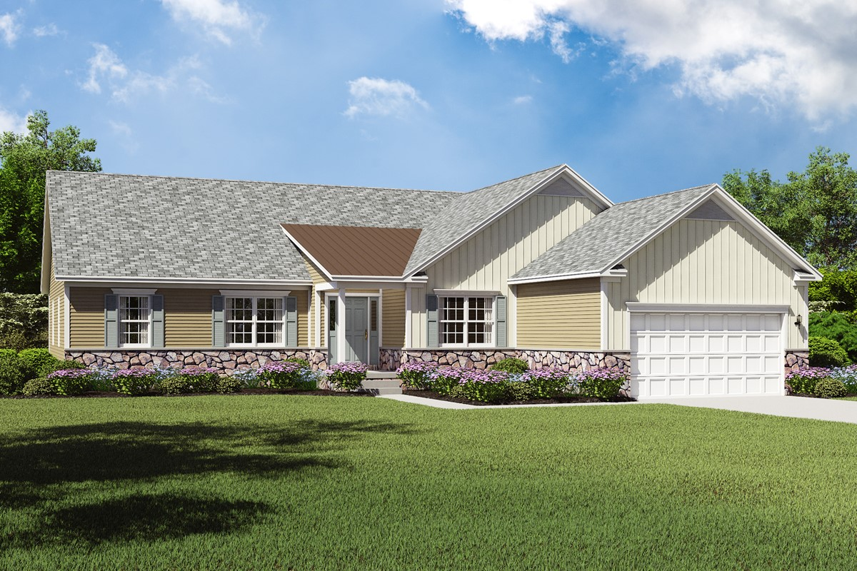 Build on your lot home designs gable for Gable home designs