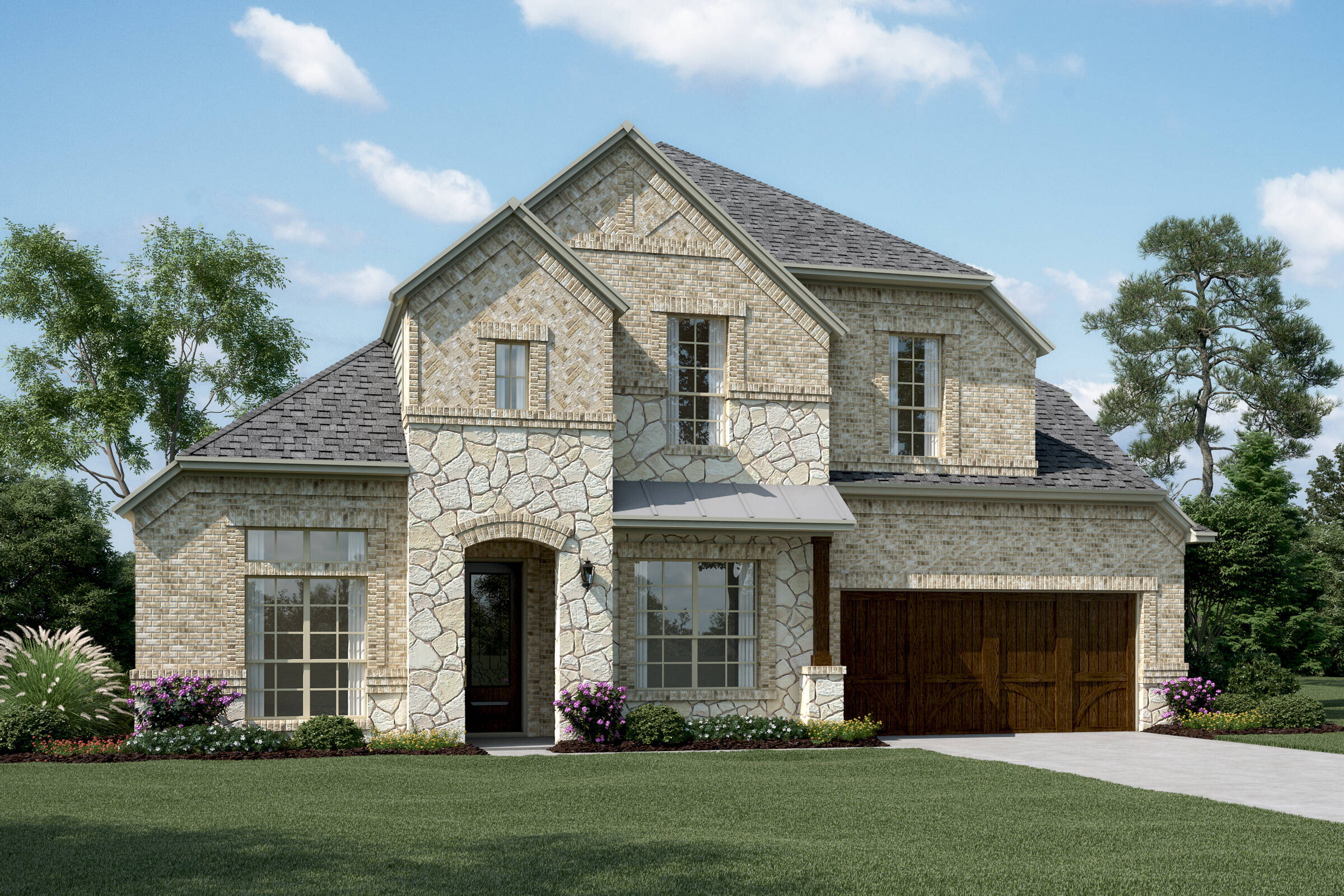 Clarendon III  D Stone new homes dallas texas
