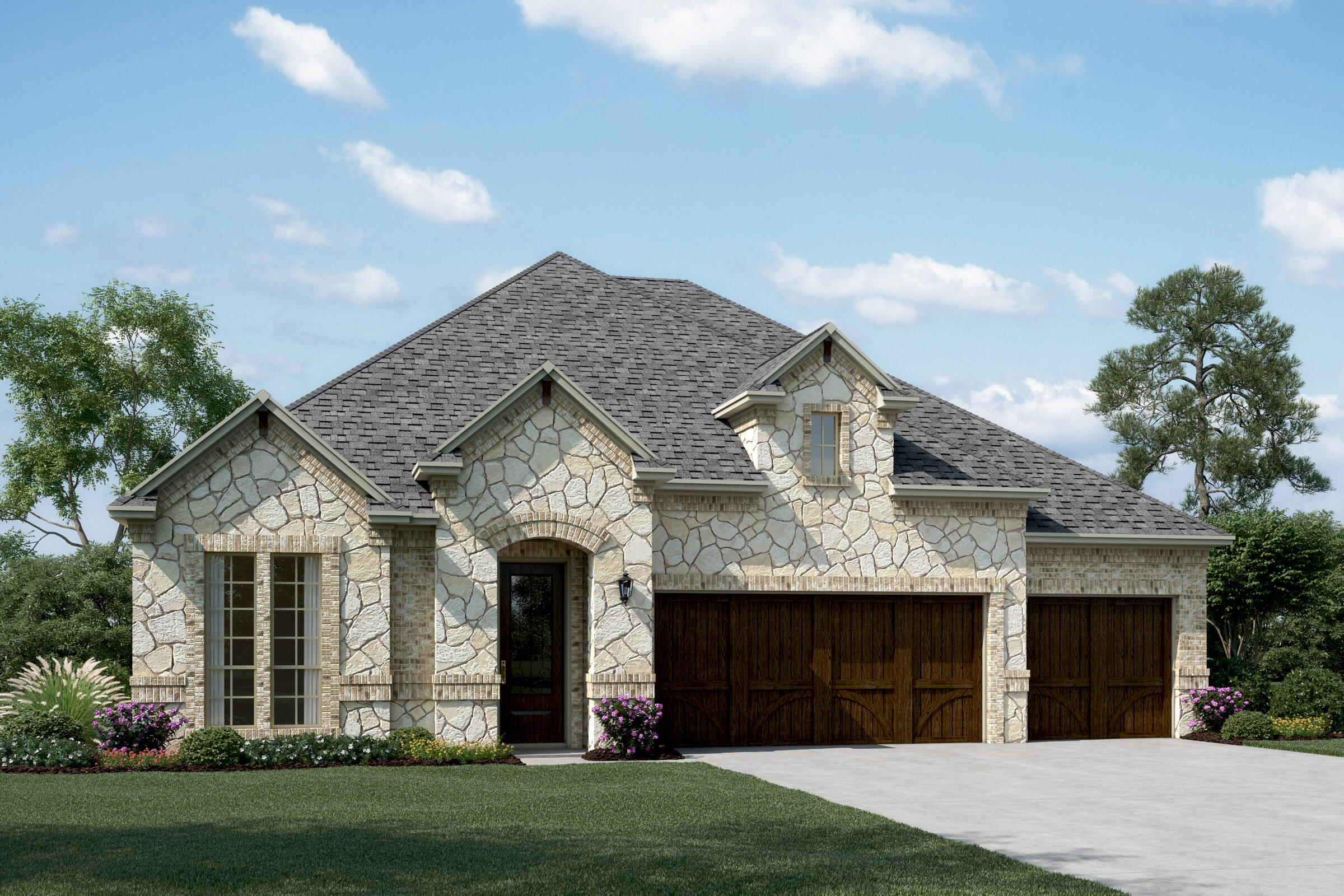 Danbury III D stone new homes dallas texas