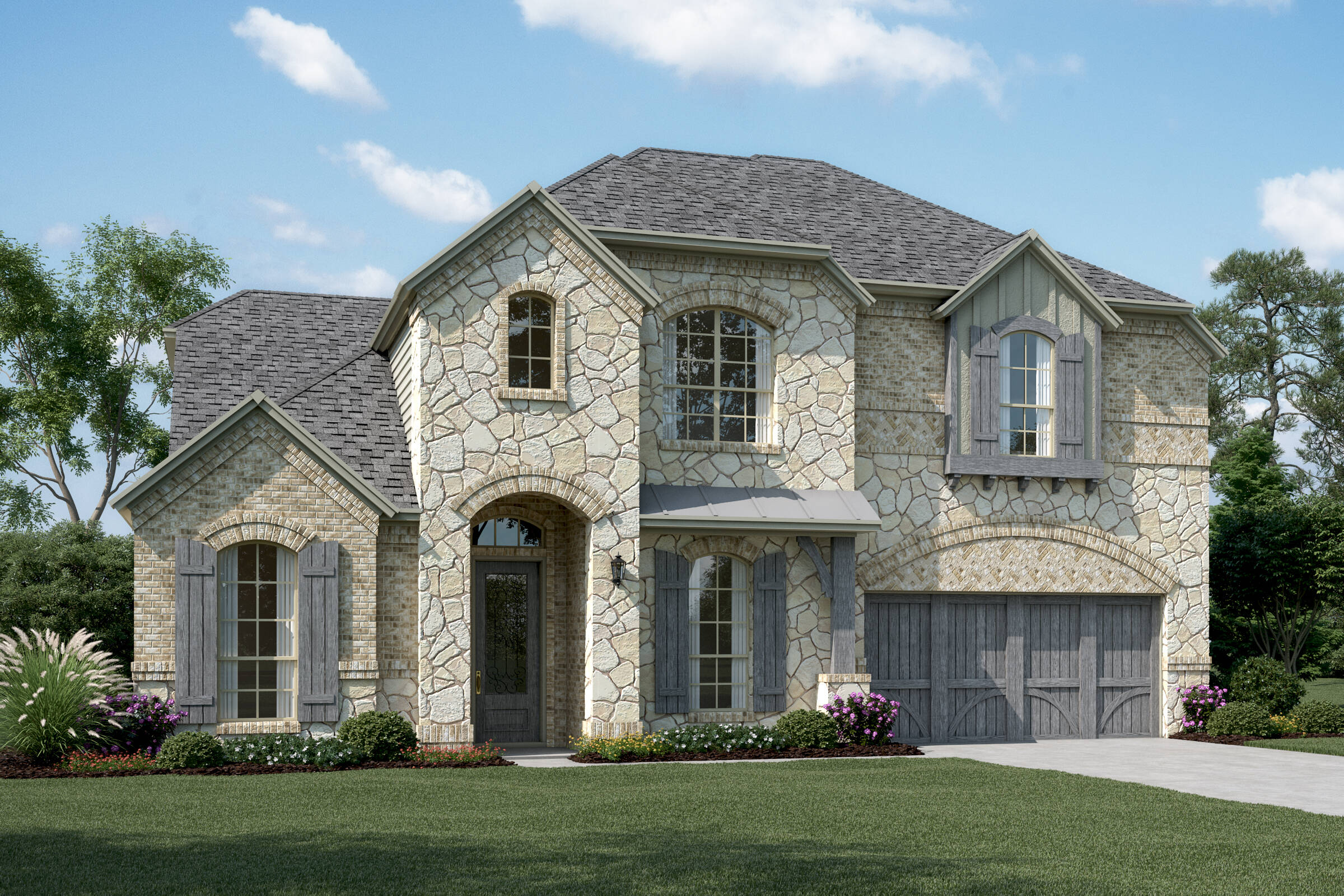 Hampshire III D Stone new homes dallas texas