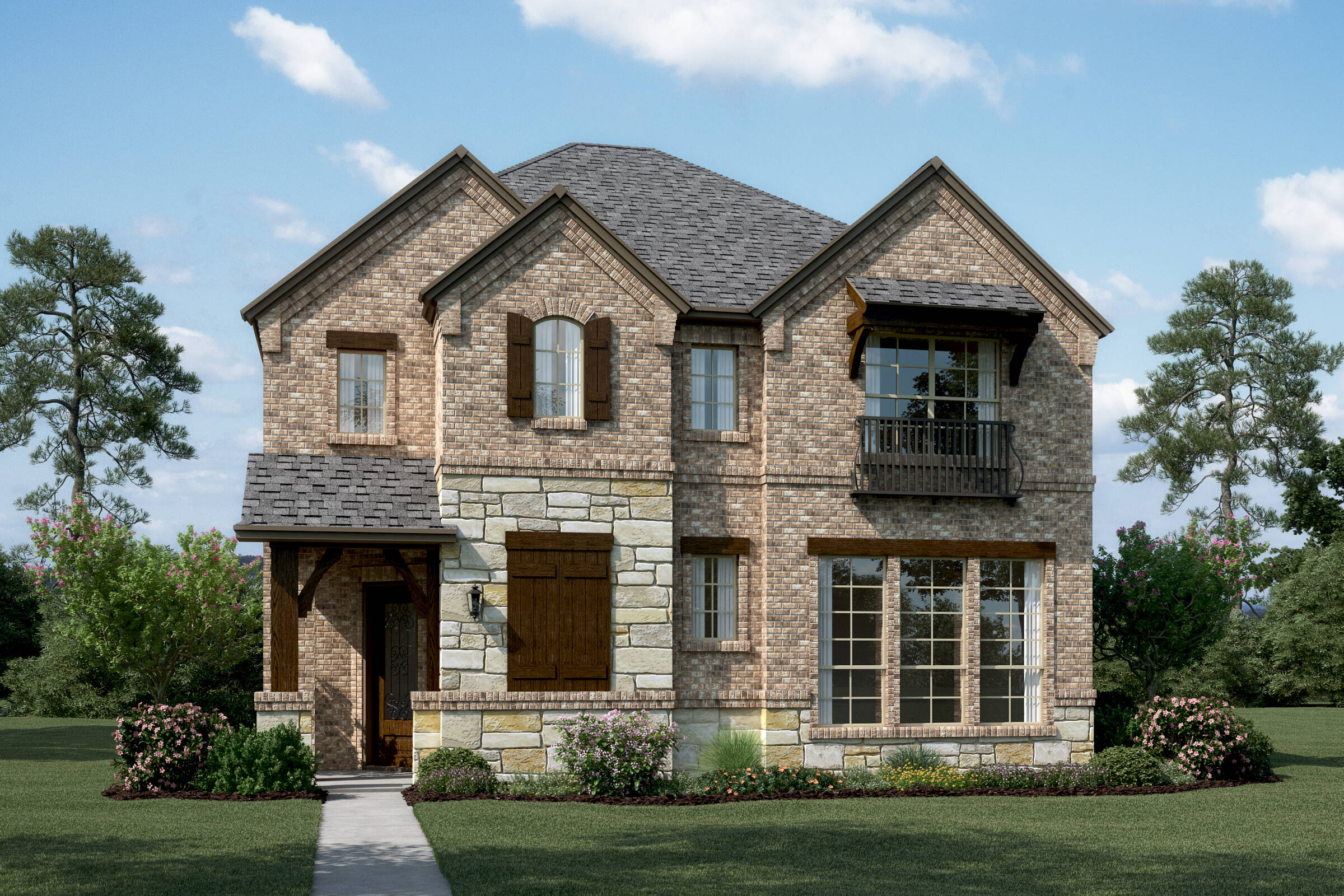 Riverchase-II-S-Stone-Elev-new-homes-near-dallas-TX
