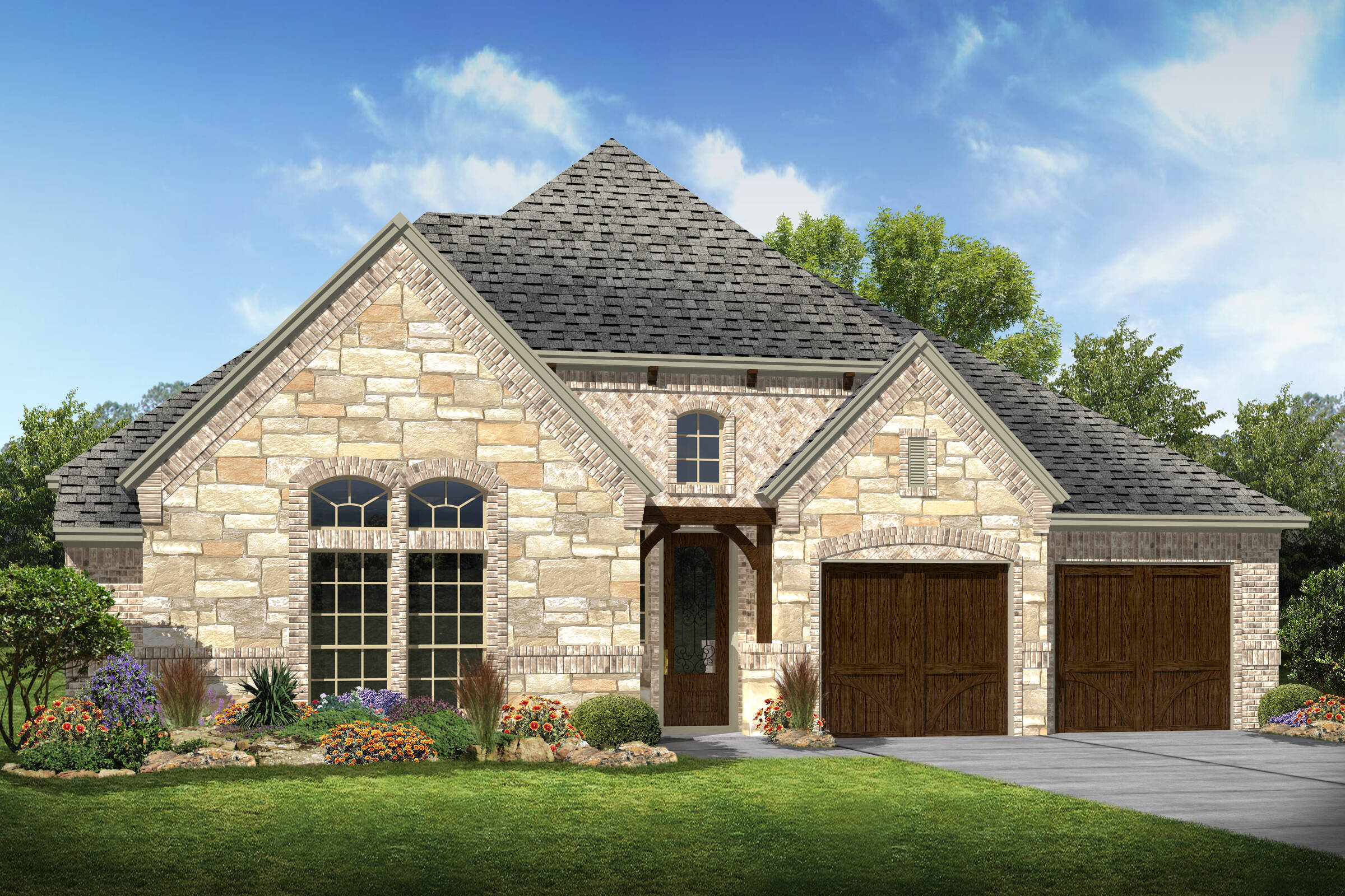Southport XIII B Stone new homes frisco tx