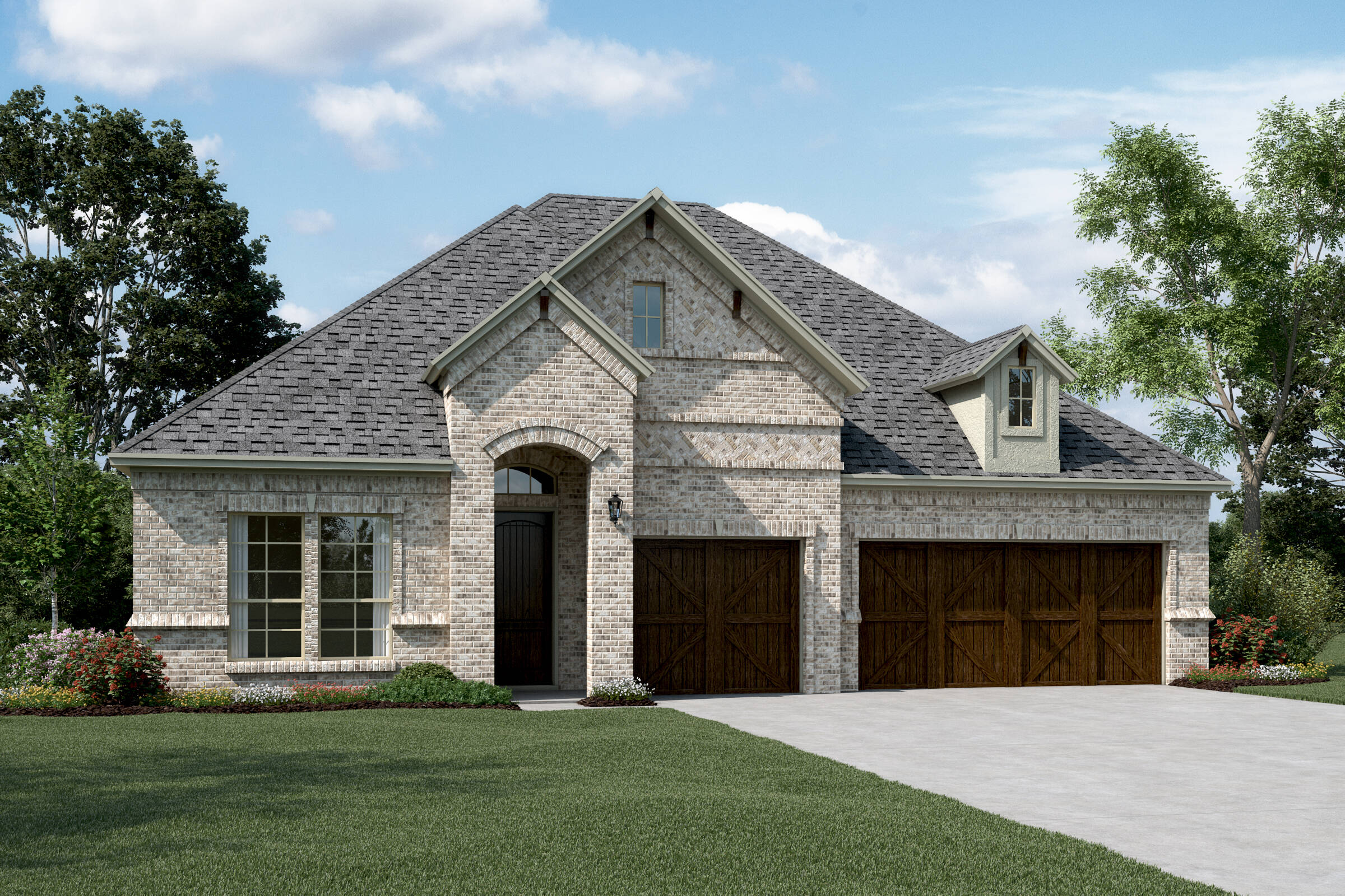 Walden III C Stone new homes dallas texas