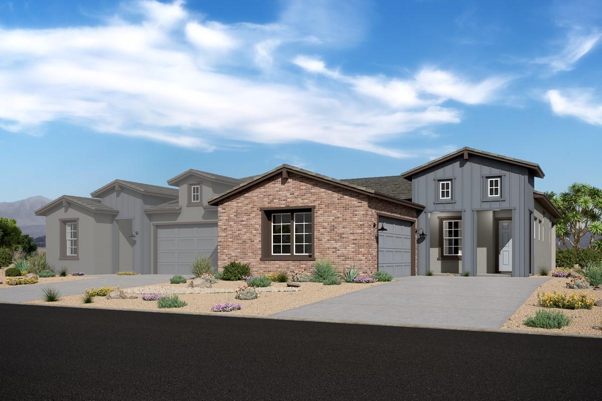 Apex 3805 w Capstone 3802 – Elevation F – Desert Modern Ranch