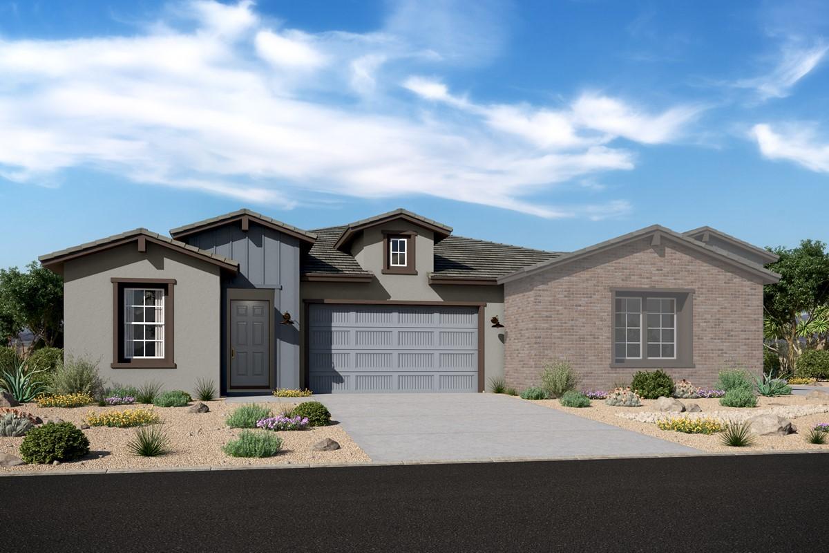 Capstone 3802 w Apex 3805 – Elevation F – Desert Modern Ranch