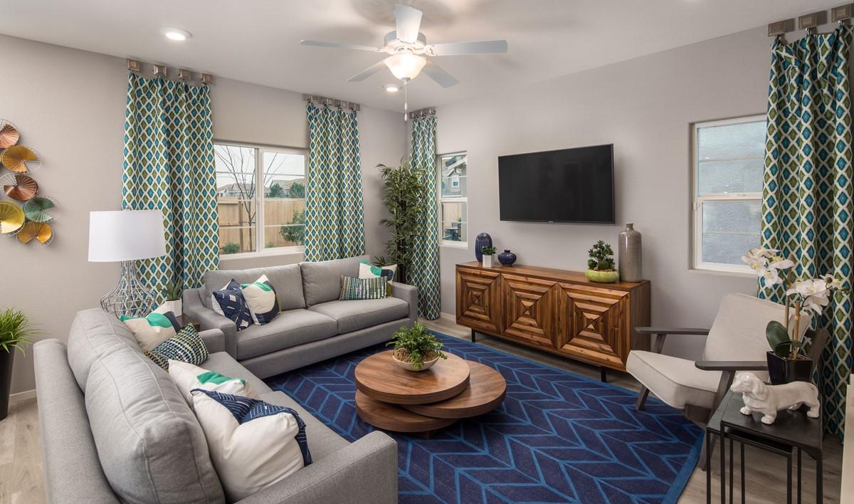 gardenia great room new homes aspire at village center aspot