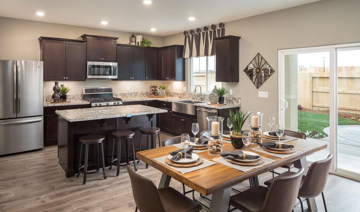 primrose dining kitchen new homes aspire at village center aspot