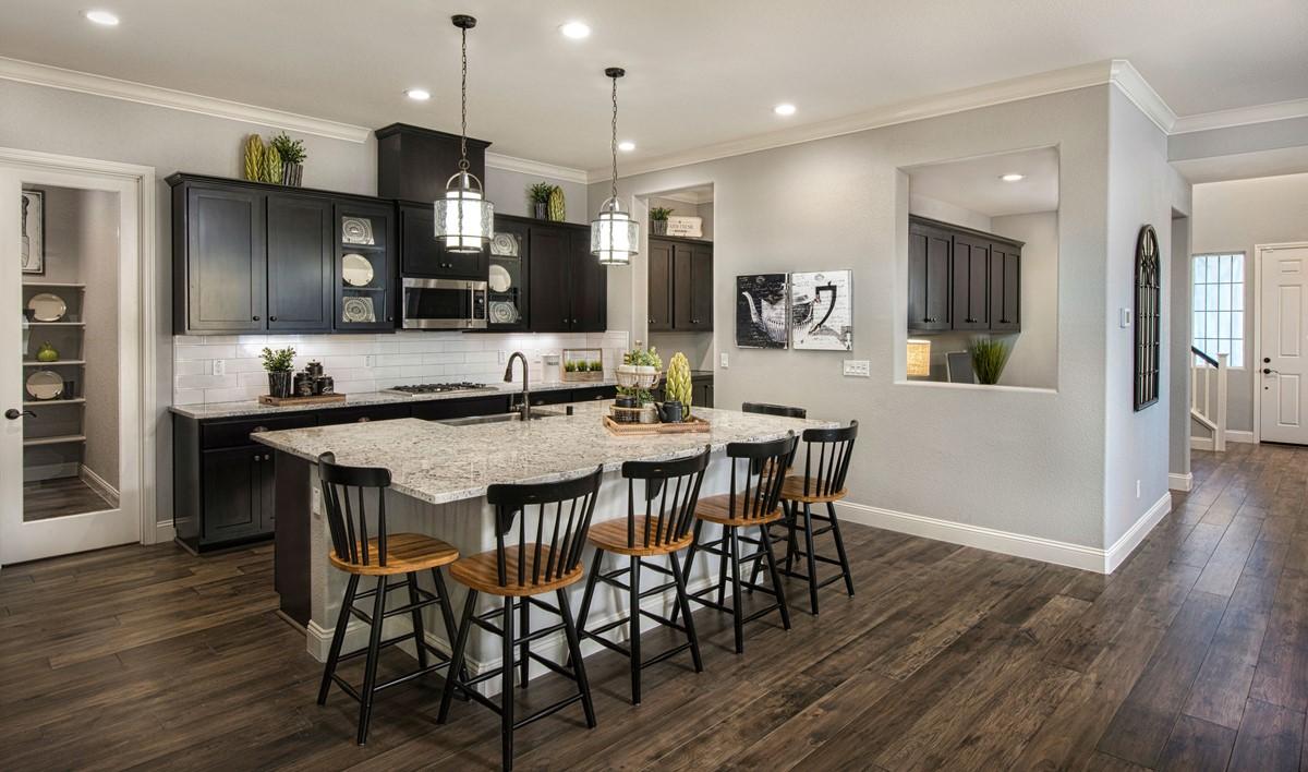 canopy kitchen new homes parkside at westshore