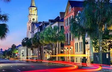 Downtown-Charleston-at-night