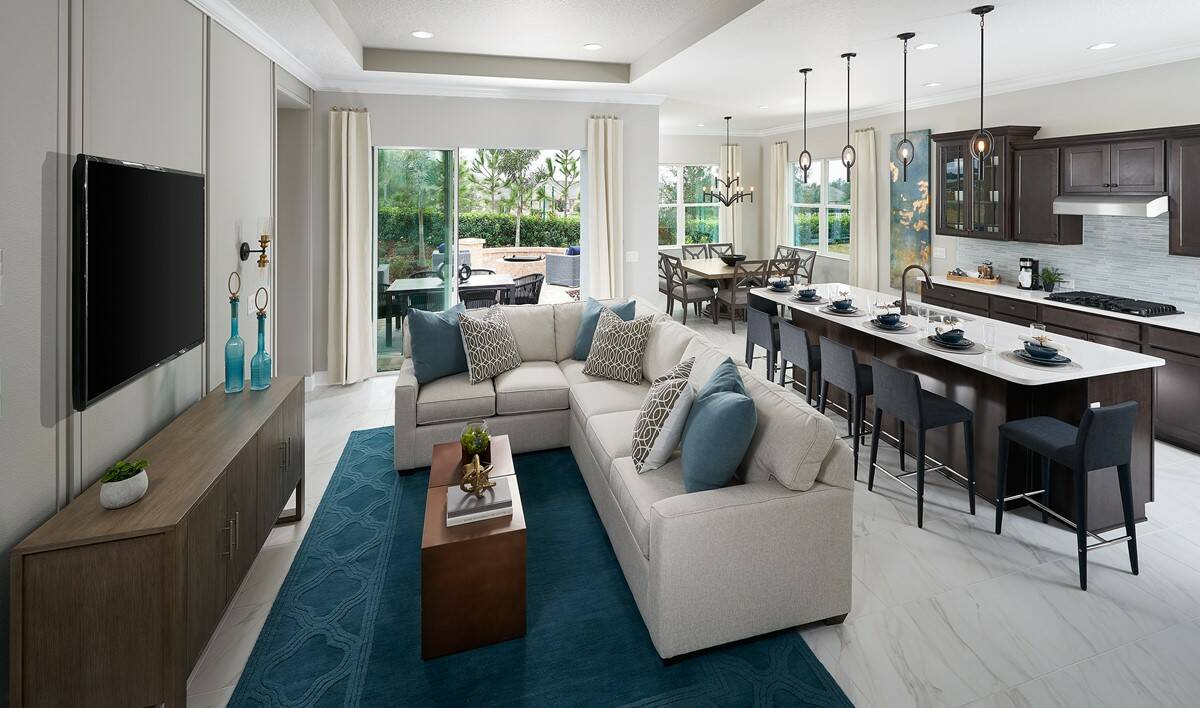 hilltop reserve alvarez great room new homes orlando florida