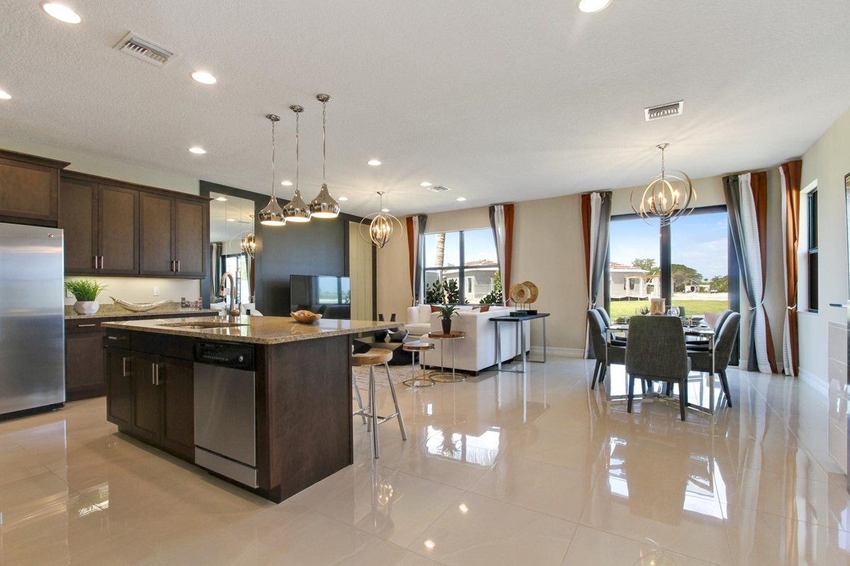 fullerton enclave dining great kitchen new homes in boca raton florida