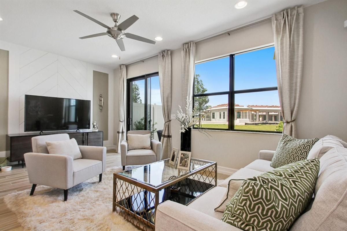 arabella enclave great room new homes in boca raton florida