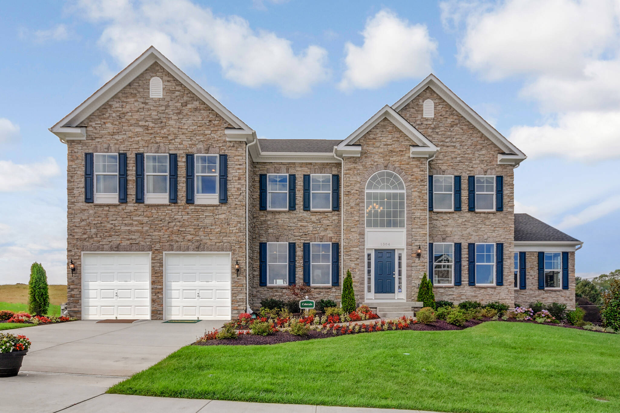 colorado georgian new homes at magness farms in maryland