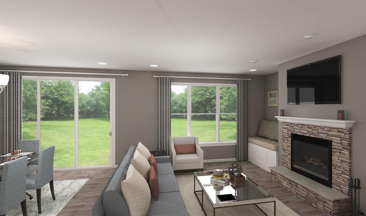 oakridge great room new home designs k hovnanian homes