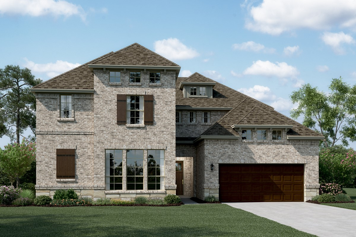 Bordeaux II D Stone new homes dallas tx