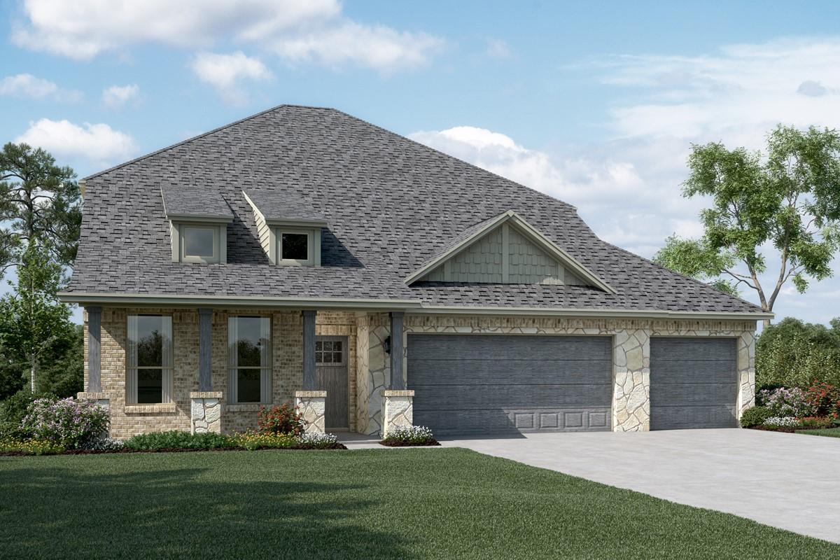 Calloway II C Stone 3 Car new homes dallas tx