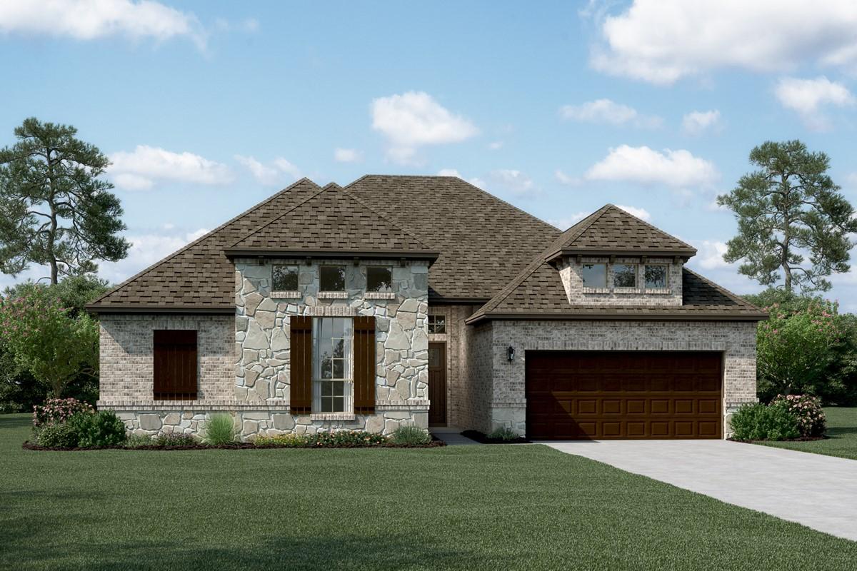 Chandler II D Stone new homes dallas tx
