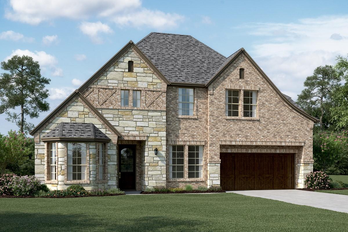 Clarendon III E Stone new homes dallas texas