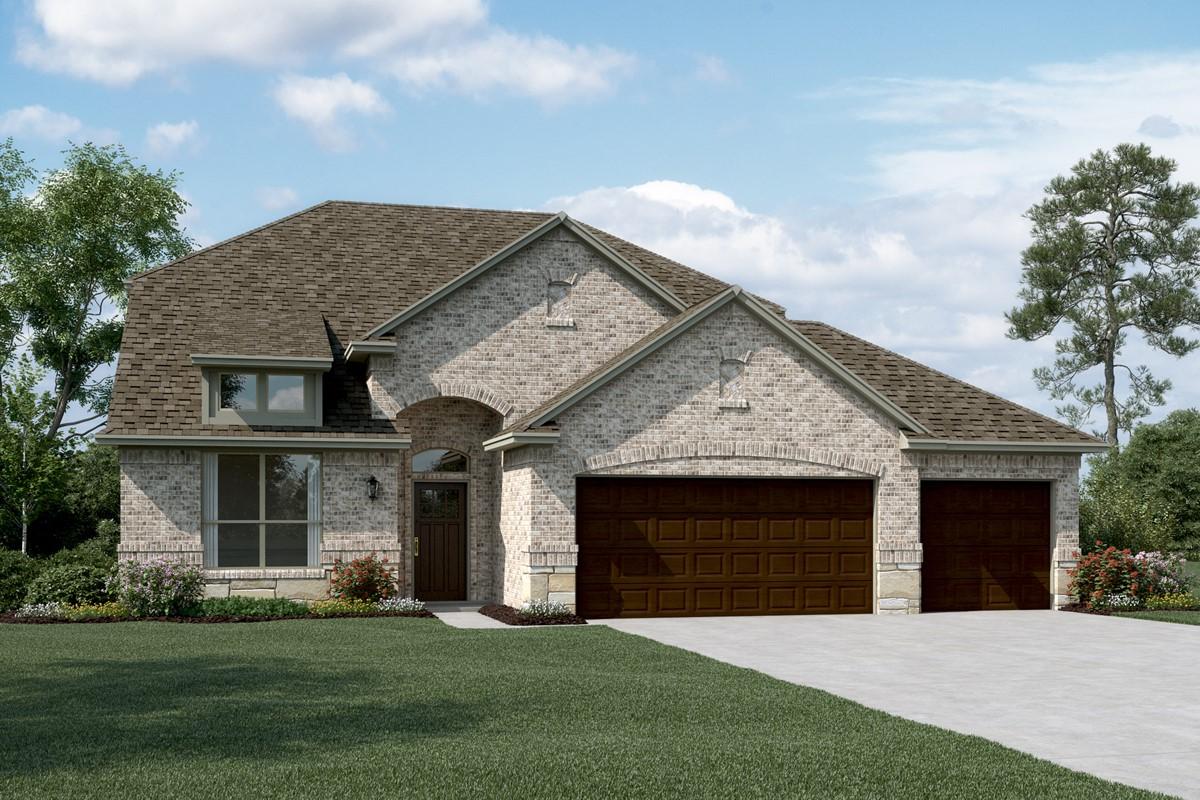 Coronado III C Stone 3 Car new homes dallas tx