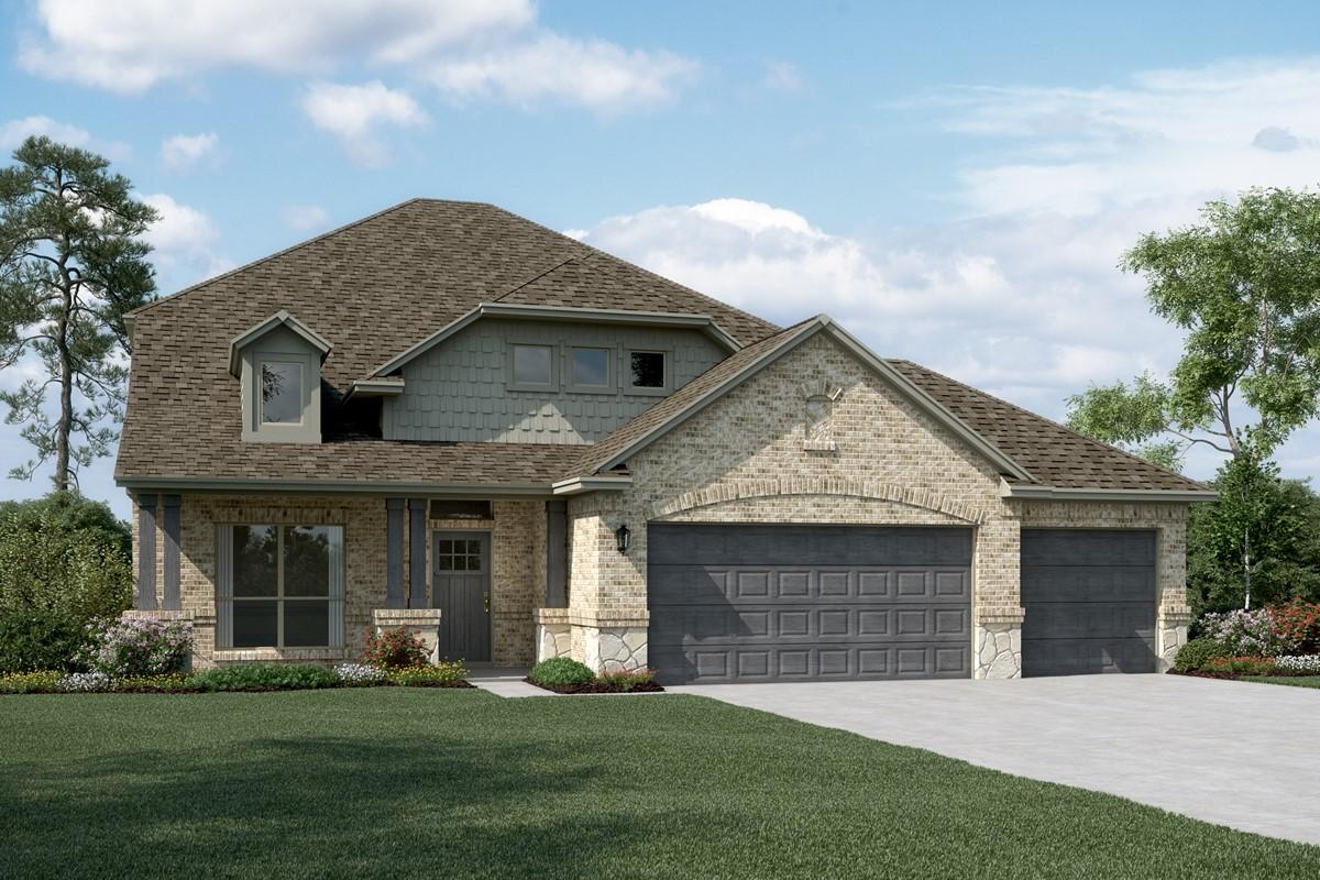 Delaware II C Stone 3 Car new homes dallas tx