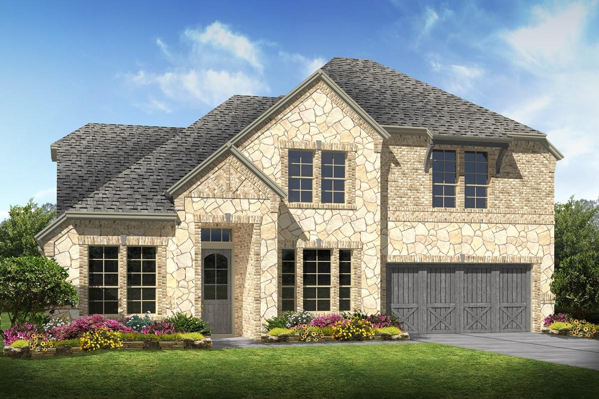 Hampshire II C Stone new homes dallas texas