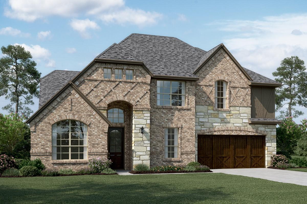 Hampshire III E Stone new homes dallas texas