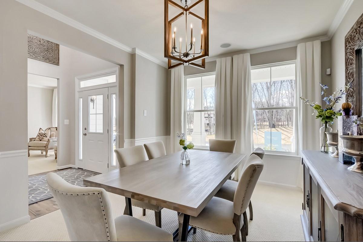 dining room alaska new homes at cardinal view