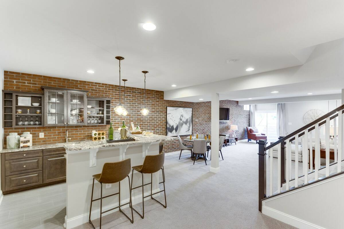 rec room birkdale new homes at hearth collection